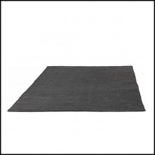 Rugs in polyolefin anthracite finish 48-Linear Anthracite