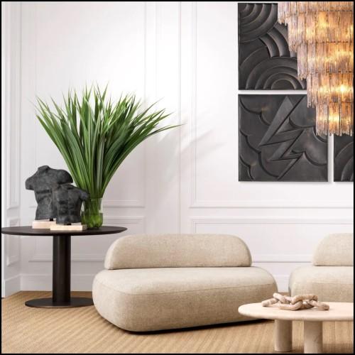 Coussin motif losange noir et or 24-Splender Gold