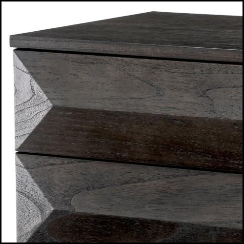 Chandelier stalactite en verre fumée et laiton brossé 24-Saint Roch L