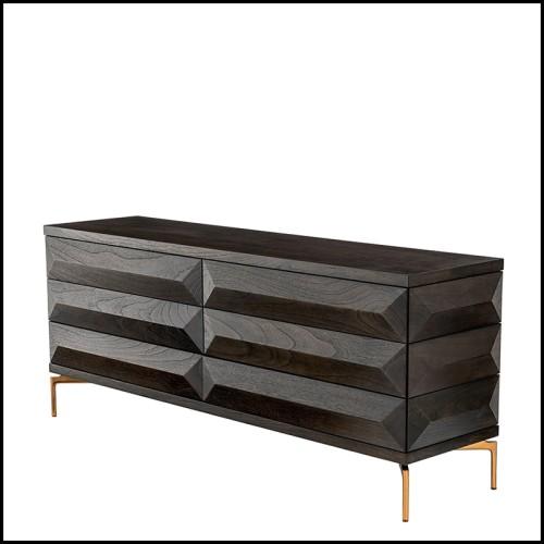 Canapé finition blanche avec coussin coloris Sunbrella bleu minéral 24-Ocean Club