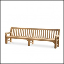Bench in Teak natural finish 24-Mendip