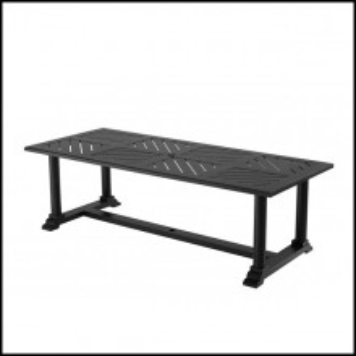 Table à manger finition matte black 24-Bell Rive B