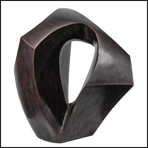 Boîte à bougie en porcelaine bleu nui et or 24k 172-Blue Eye