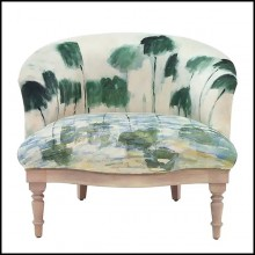Fauteuil avec motif comme peint sur tissu 176-Monet