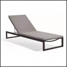 Lounger in lava finish and lotus sparrow fabric 48-Liner Lava L Sparrow