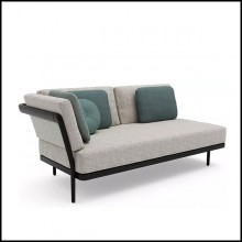Bench 2-seater in PCA and teak nero 48-Flex Right 2