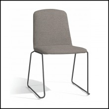Chair stackable in PCSTS lava finish 48-Loop Sparrow