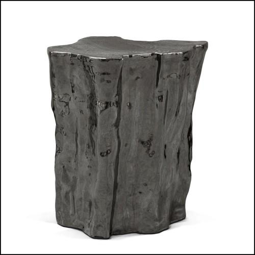 Chaise de bar en PCA et textile Batyline 48-Latona Lava