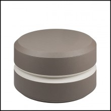 Table d'appoint cuir finition smokey 189-Liguria L