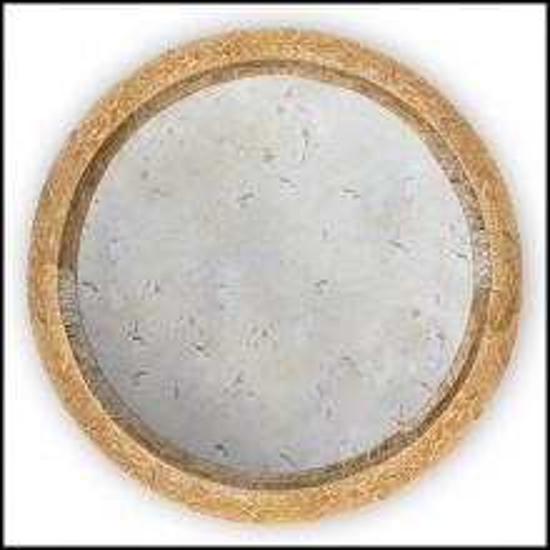Miroir rond laiton massif finition antique 145-Round Pilgrim