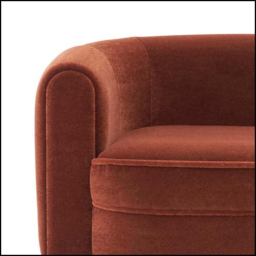 Modular Sofa outdoor in PCA lava 48-Zendo C1