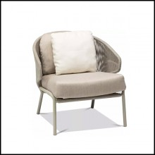 Armchair in rope and PCSTS 48 Radius Pepper