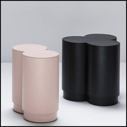 Table basse en teck et pierre bleue 48-Siena Round