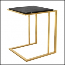 Table d'appoint avec structure finition Gold ou acier inoxydable poli ou bronze 24-Cocktail