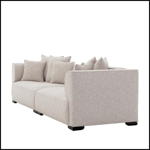 Canapé en tissu avec structure en bois massif entièrement déhoussable 152-Montecatini