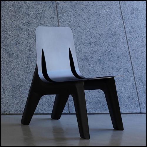 Fauteuil de repas en résine blanche 111-Frame
