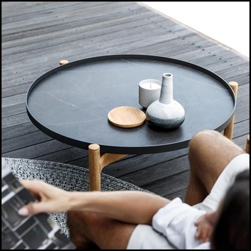 Vase en porcelaine 162-Golden Red Medium