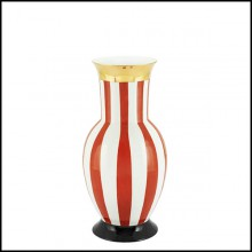 Vase in porcelain 162-Golden Red Medium