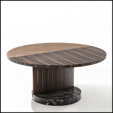 Table basse 163-Noyer Patch