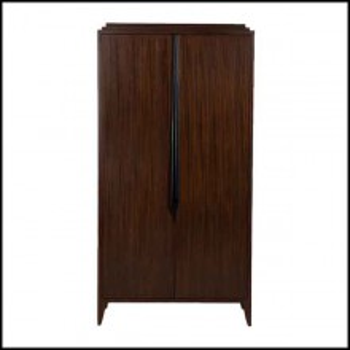 Cabinet avec structure en bois d'acajou massif 119-Distinct Medium