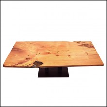 Dinning table with solid Kauri wood top PC-Kauri Wood and Resin