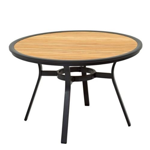 Lampadaire pied téléscopique, finition bois/nickel 24-Telescope