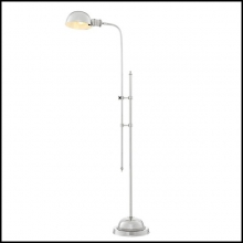Lampadaire avec structure fintion nickel 24-Santo