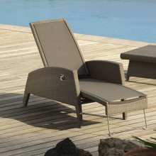 Steamer dossier inclinable wicker brossé 46-KAHUNA