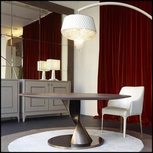 Chaise coloris lotus smokey avec structure en acier inoxydable électropoli white 48-Loop