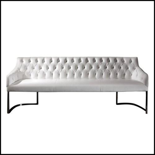 Canapé en résine de LLDPE blanche, résistant aux UVI 111-JAVIER MARISCAL