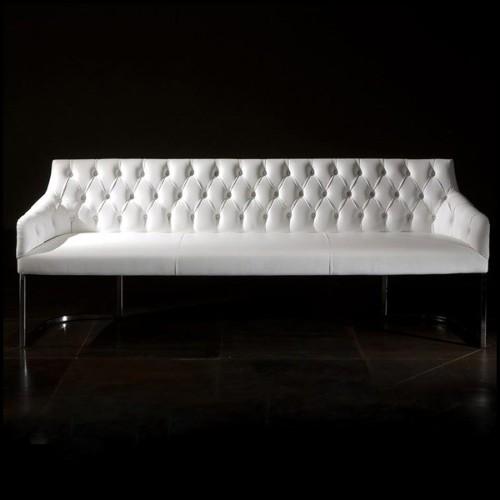 Table basse en résine de LLDPE blanche, résistant aux UVI 111-JAVIER MARISCAL