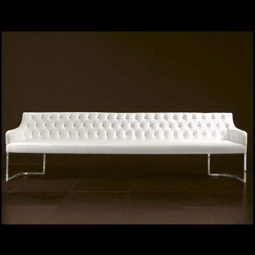 Fauteuil collection Doux en résine de LLDPE blanche, résistant aux UVI 111-Pal