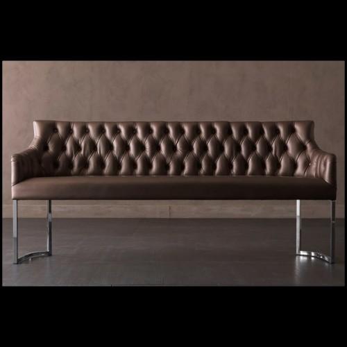 Canapé collection doux en résine de LLDPE blanche, résistant aux UVI 111-Pal