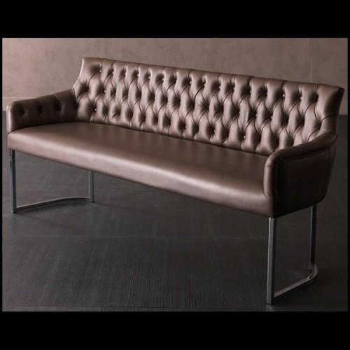Table basse collection Doux en résine de LLDPE blanche, résistant aux UVI 111-Pal