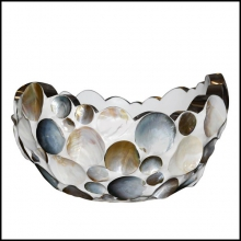 Coupe en coquillage et inox 84-Shell