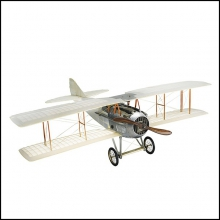 PLANE hand made, wood, cotton sheet 113-TRANSPARENT SPAD