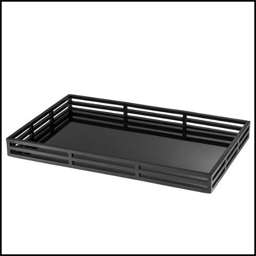 Coussin en tissu avec motif orange et blanc brodé à la main 24-HARTLEY
