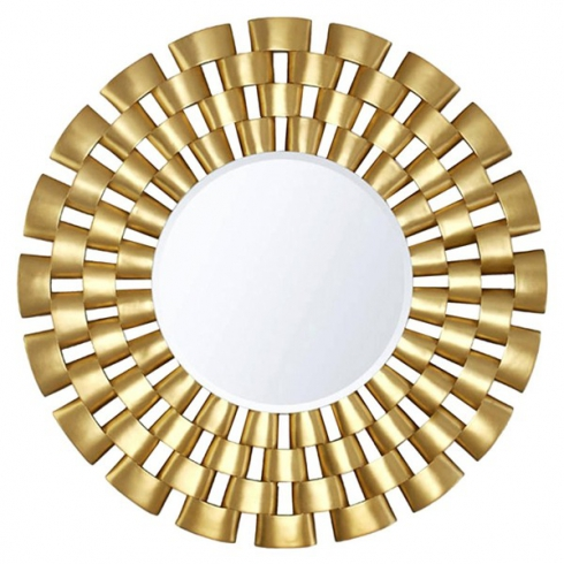 Miroir cadre collier en bois massif 119 necklace pacific for Miroir rond cadre bois