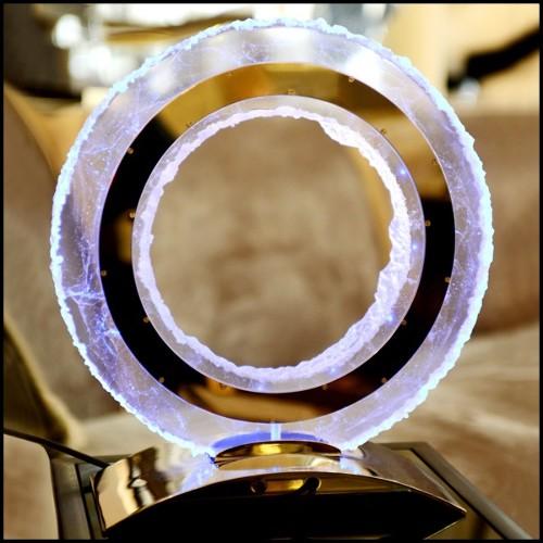 Miroir spyrographe de trois anneaux 119-Gold Circles
