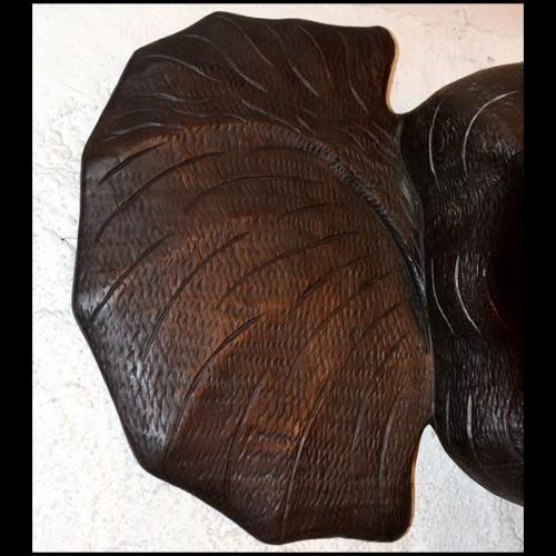 Table d'appoint avec structure finition Gold et plateau en verre fumé 24-Domino L