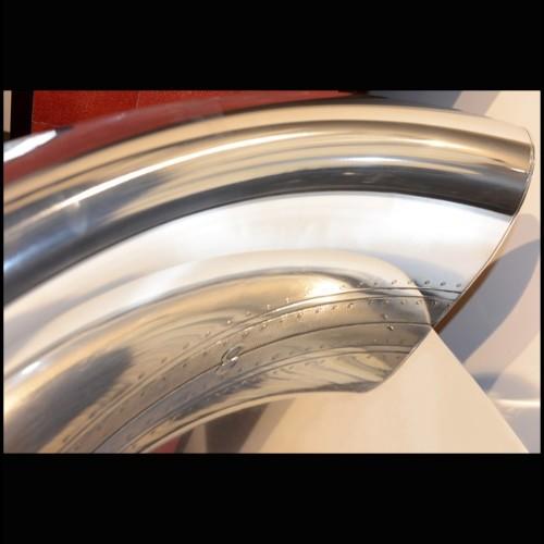 Console avec structure finition Gold et plateau en verre fumé noir 24-Palmer