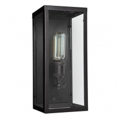 Applique avec structure en acier finition bronze et verre clair 24-Irving