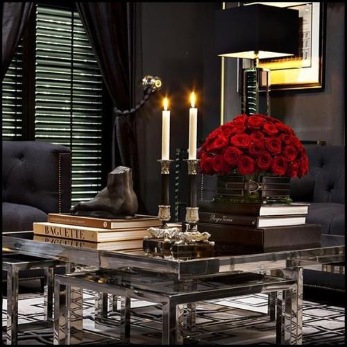 Tête de lit rembourée et ornée par un ruban sculpté 119-Valentina