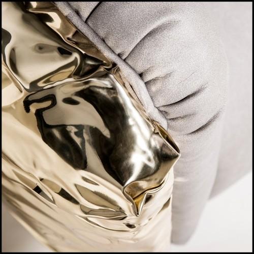 Miroir Deux cercles sculptés main et miroir perle centrale 119-Pearl