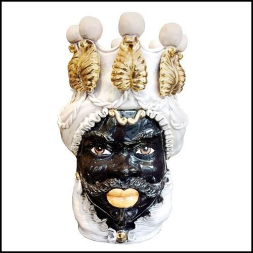 Miroir en ellipse rond avec verre miroir convex et cadre en bois finition argent 119-Sunrise