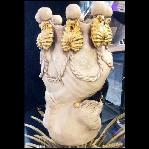 Miroir avec cadre sculpté à la main finition gold 119-Aster