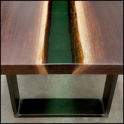 Chaise avec structure en hêtre massif 140-Leopoldo