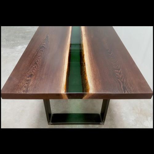 Chaise avec structure en hêtre massif 140-Gunilla