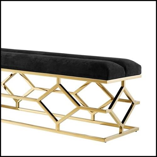 Chaise avec structure en bois de hêtre massif 140-Eugénie