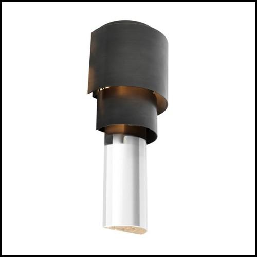 Miroir structure bois sculpté à la main 119-Cloverleaf